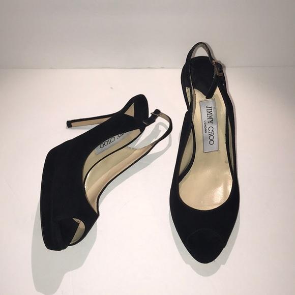 9ba548af85f Jimmy Choo Shoes - Jimmy Choo Nova Suede Peep Toe Platform Pumps